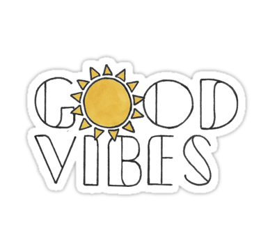 Good Vibes Sun Sticker By Jamie Maher Stickers In 2019