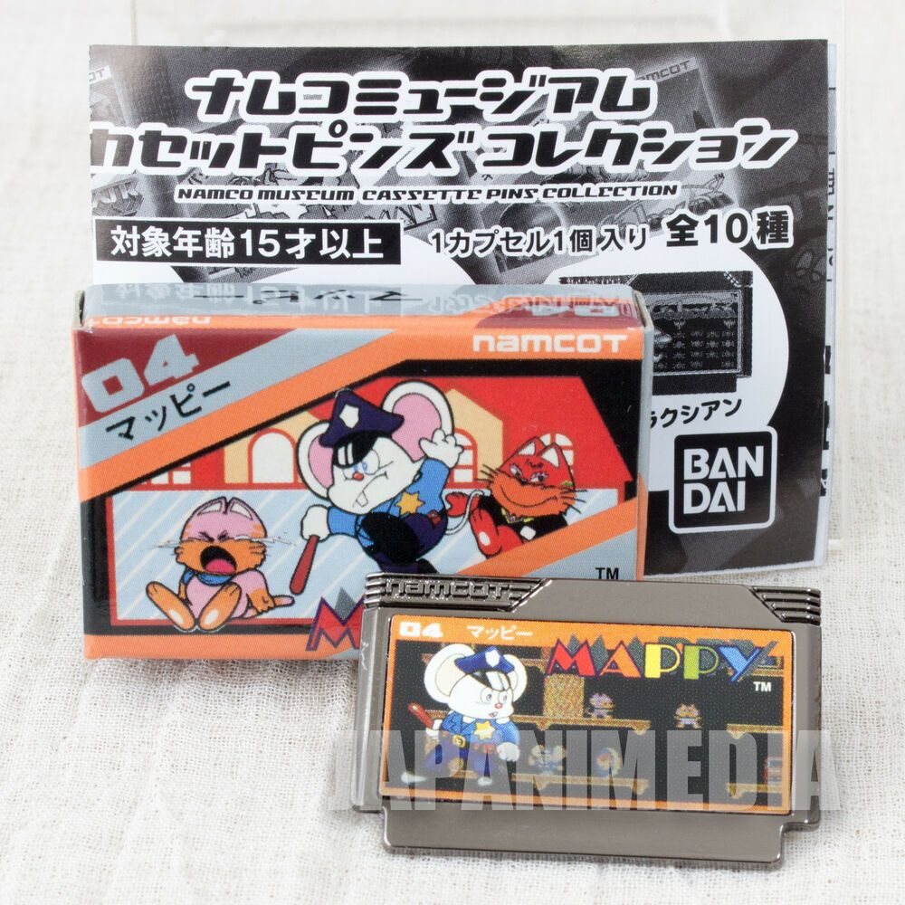 Mappy namco museum cassette pins collection bandai japan