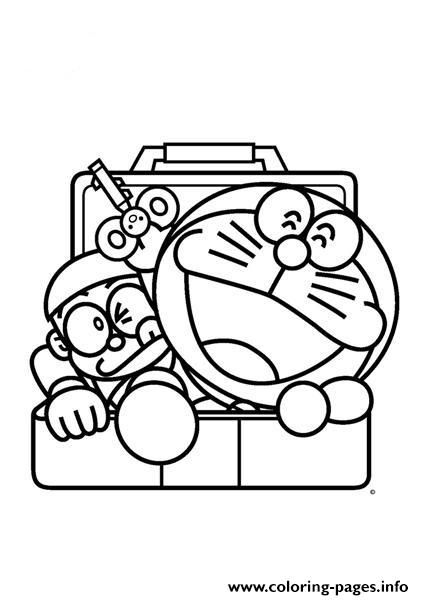 Print nobita and doraemon comes out from locker 0643 coloring pages - copy fun coloring pages spongebob