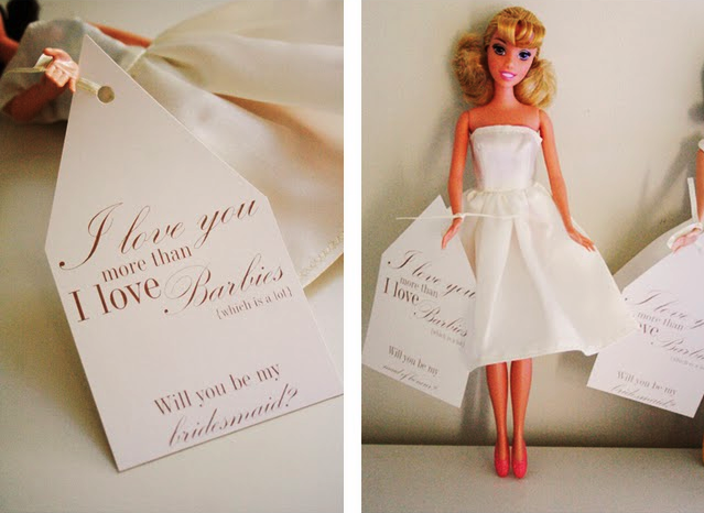 Boldly Chic Events 5 Unique Ways To Ask Your Bridesmaids I Love You More Than Barbies Which Is A Lot Will Be My Bridesmaid