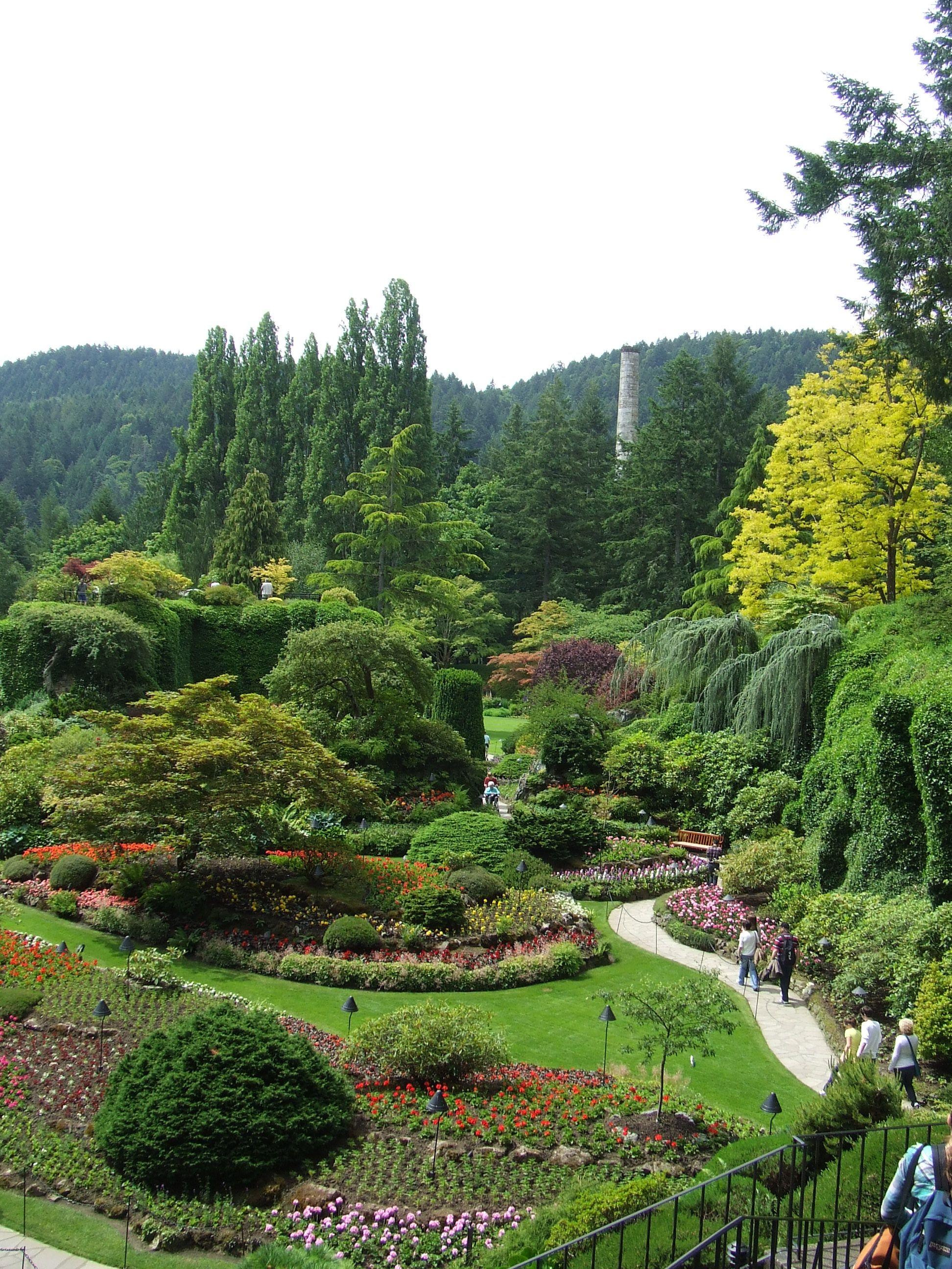 Victoria, B.C. Buchart gardens, Botanical gardens near