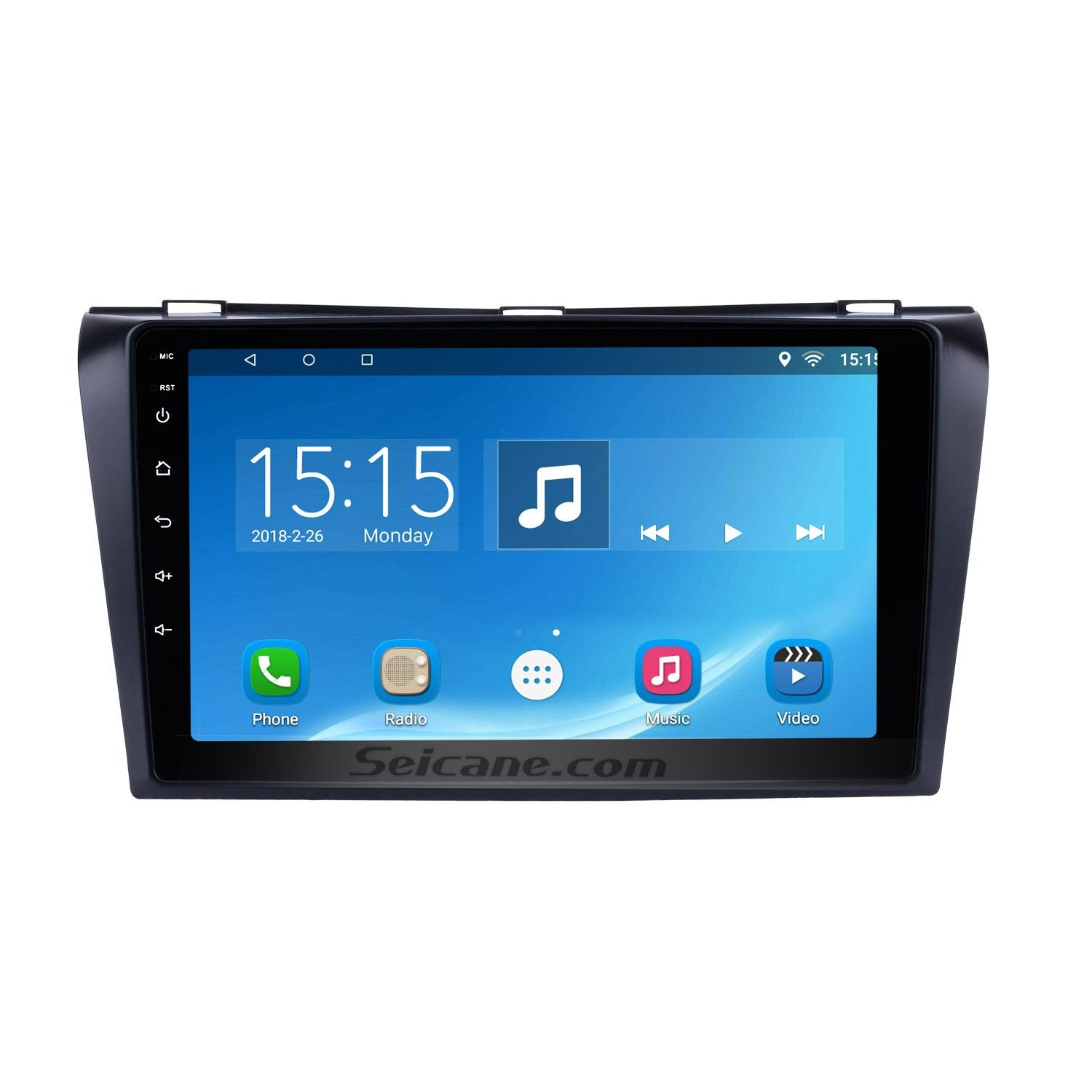 seicane android 6 1 2004 2009 mazda 3 radio upgrade with gps navigation system bluetooth car stereo [ 1500 x 1500 Pixel ]