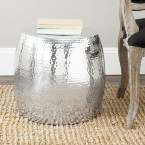 Hammered Silver Side Table Httpzalfiinfo Pinterest - Hammered silver side table