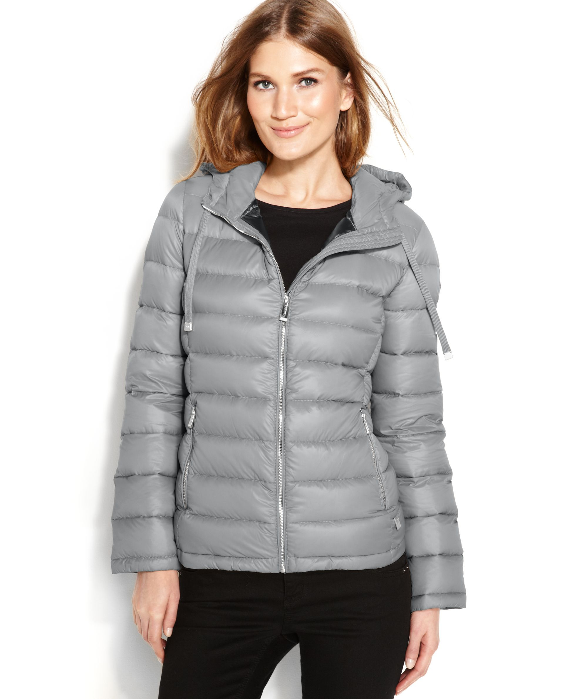 c1fe45efb726 Calvin Klein Hooded Quilted Packable Down Puffer Coat | Products ...