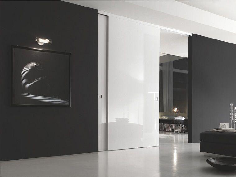 Porte Interne Moderne Design.Porte Interne Moderne Scorrevole Bianca Lucida Unusual