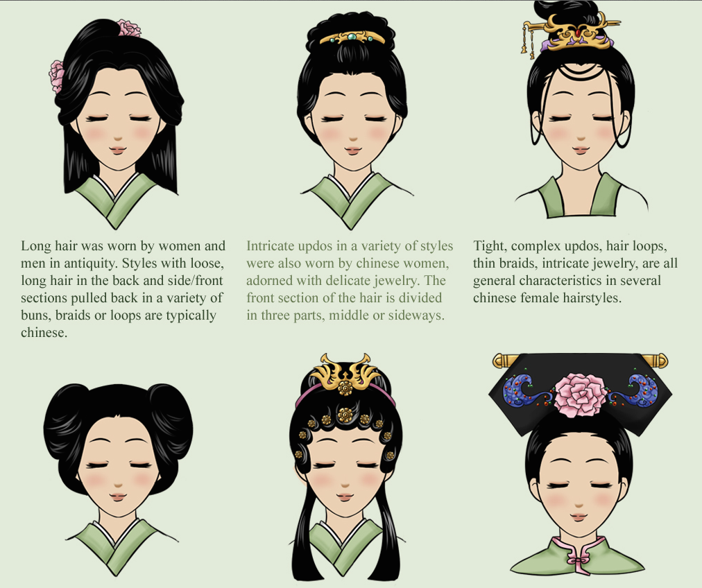 Female Hairdo Chinese Hairstyle Oriental Fashion Chinese Culture