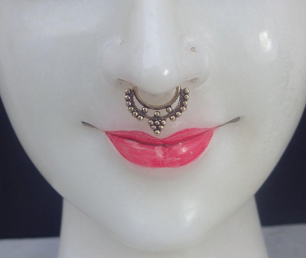 Fake Septum Indian Septum Septum Piercing Faux Septum Ring Clicker