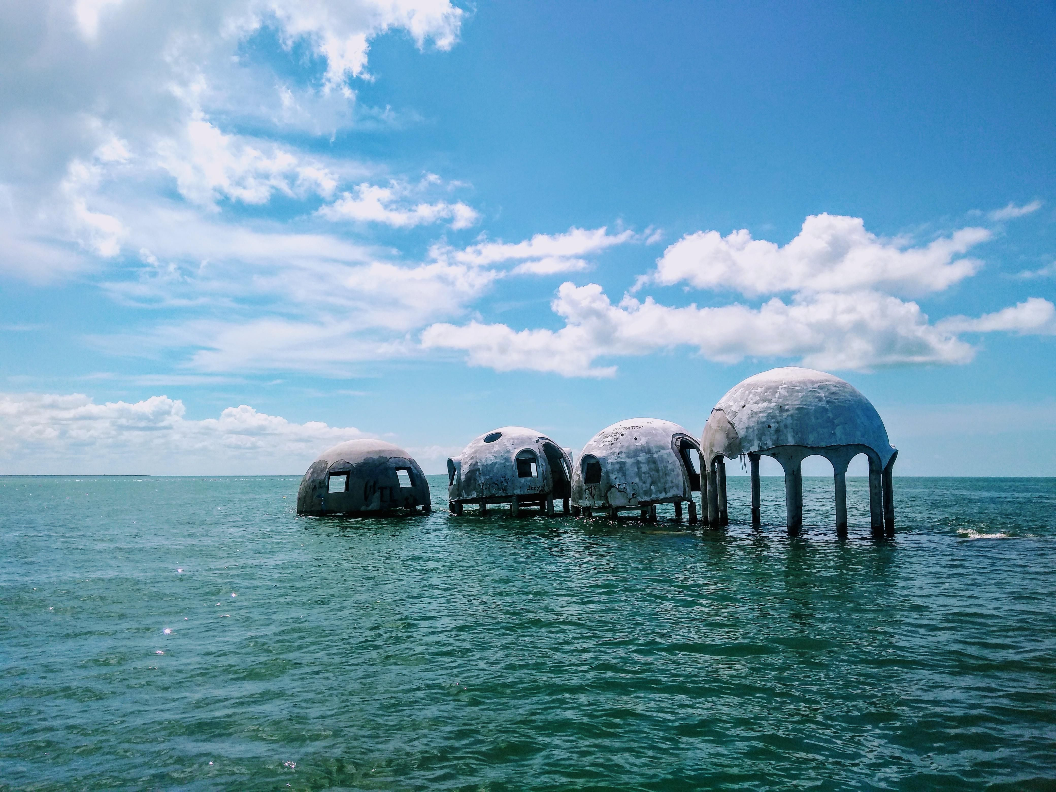 [OC] Cape Romano Dome House located in 10000 Islands of southwest Florida