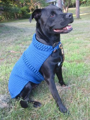 Blue Crochet Large Dog Coat Blue Dog Coat Dog By Eclectionsgifts