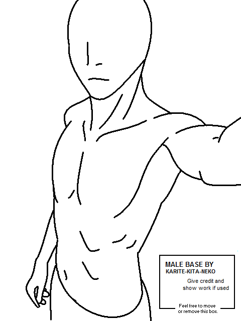 anime boy outline body: Male Base By Icycatelf On DeviantArt