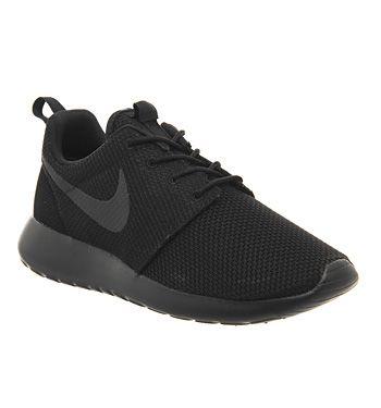 45efbffd4200 Buy Black Mono M Nike Roshe Run Trainers from OFFICE.co.uk ...