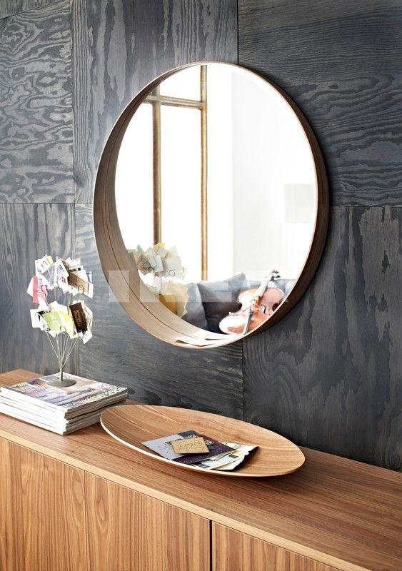 stockholm mirror walnut veneer buildings spaces decor ikea rh pinterest com