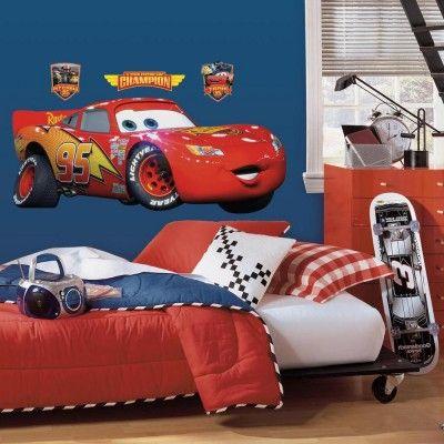 cars lightning mcqueen giant wall decal avery s new room disney rh pinterest com
