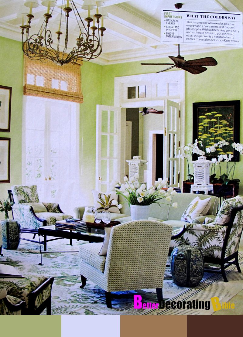 Living rooms Decorating Green With Envy