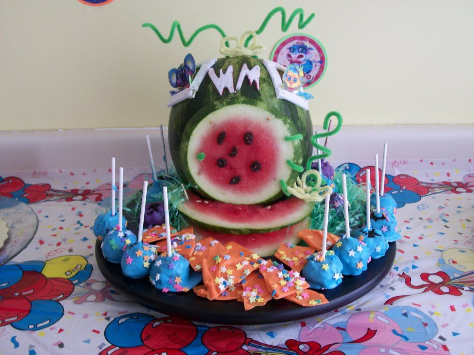 Jen Den Hartog's husband created this awesome watermelon