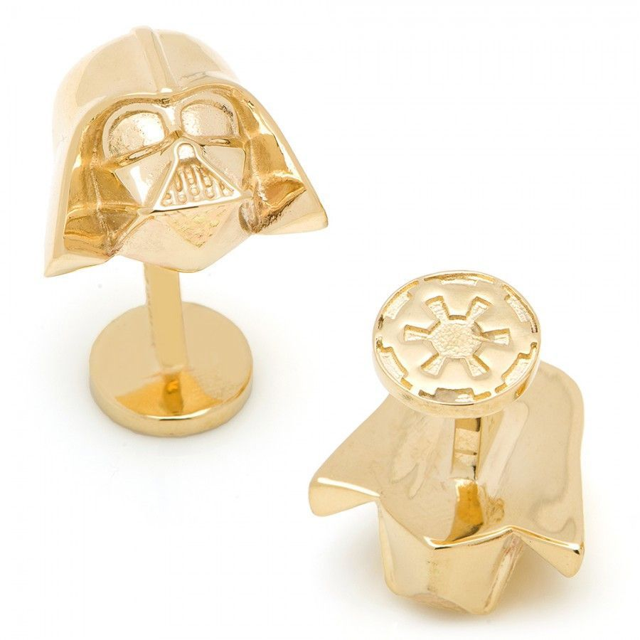 Get the ultimate bragging rights with these?˜solid 14-karat Darth Vader cufflinks. ?˜It's a no-brainer bribe gift if you get these for joining the Dark Side. They come with a complimentary Star Wars j