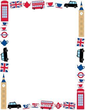 printable london border use the border in microsoft word or other