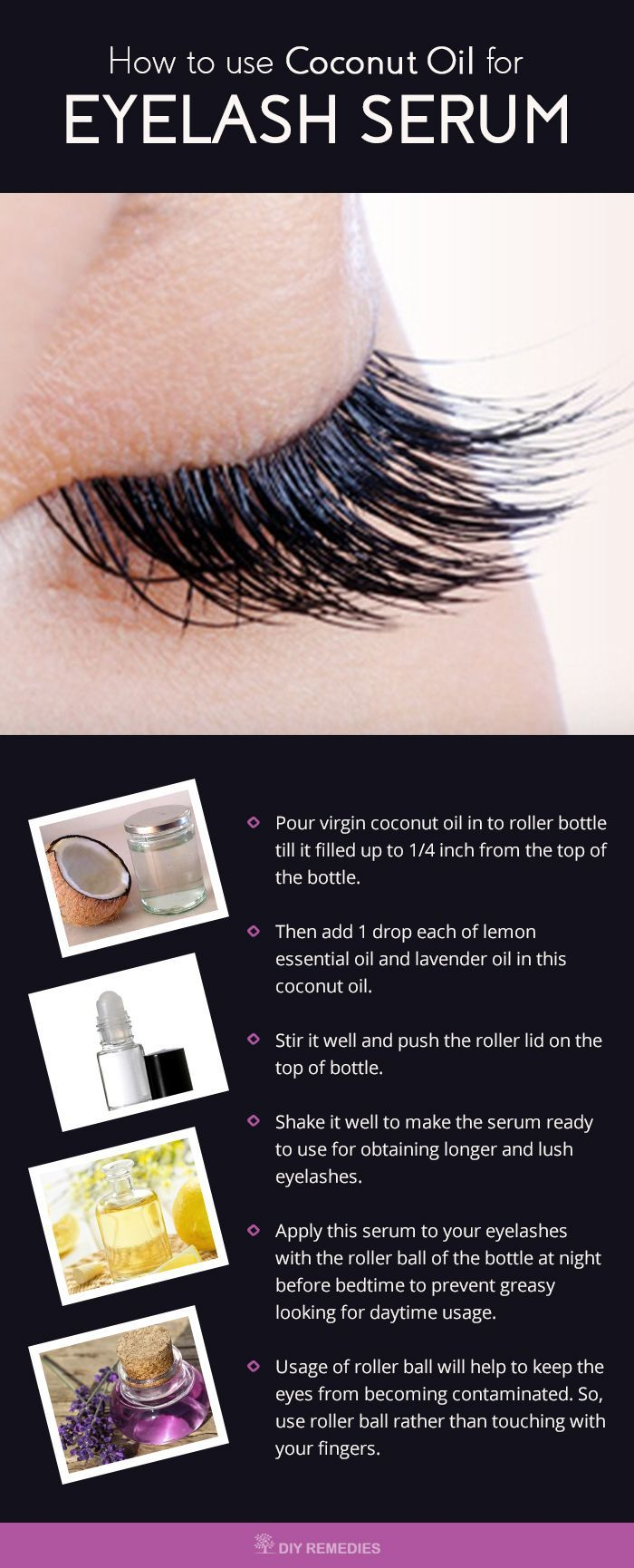 How To Use Coconut Oil For Eyelashes Dry Hair Pinterest Makeup