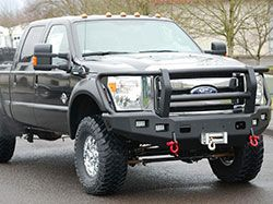 Trailready Winch Bumpers For Ford Superduty Trucks F250 F350 F450 F550 Truck Accessories Ford Ford Super Duty Trucks Truck Bumpers