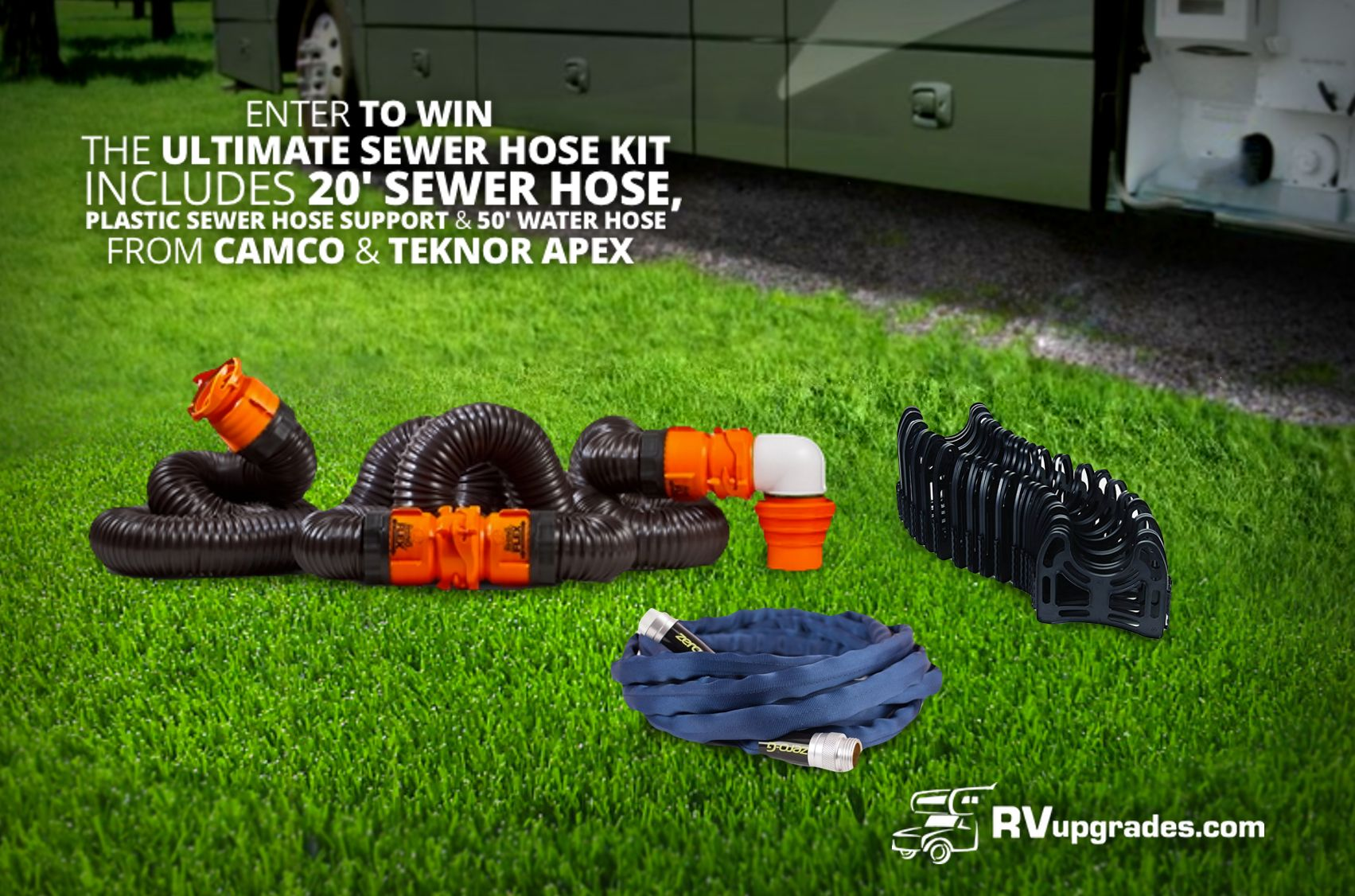 This week 1 lucky winner will win the Ultimate RV Sewer
