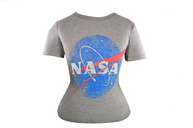 Vintage Women�s Heather Grey NASA T-Shirt
