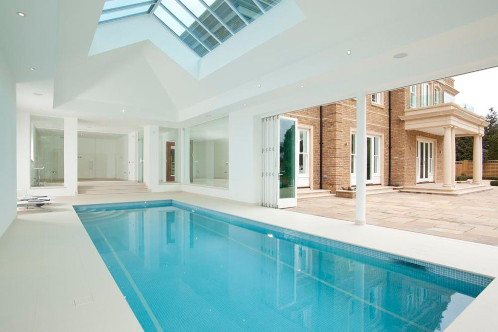 indoor swimming pool design construction falcon poolsfalcon rh pinterest com