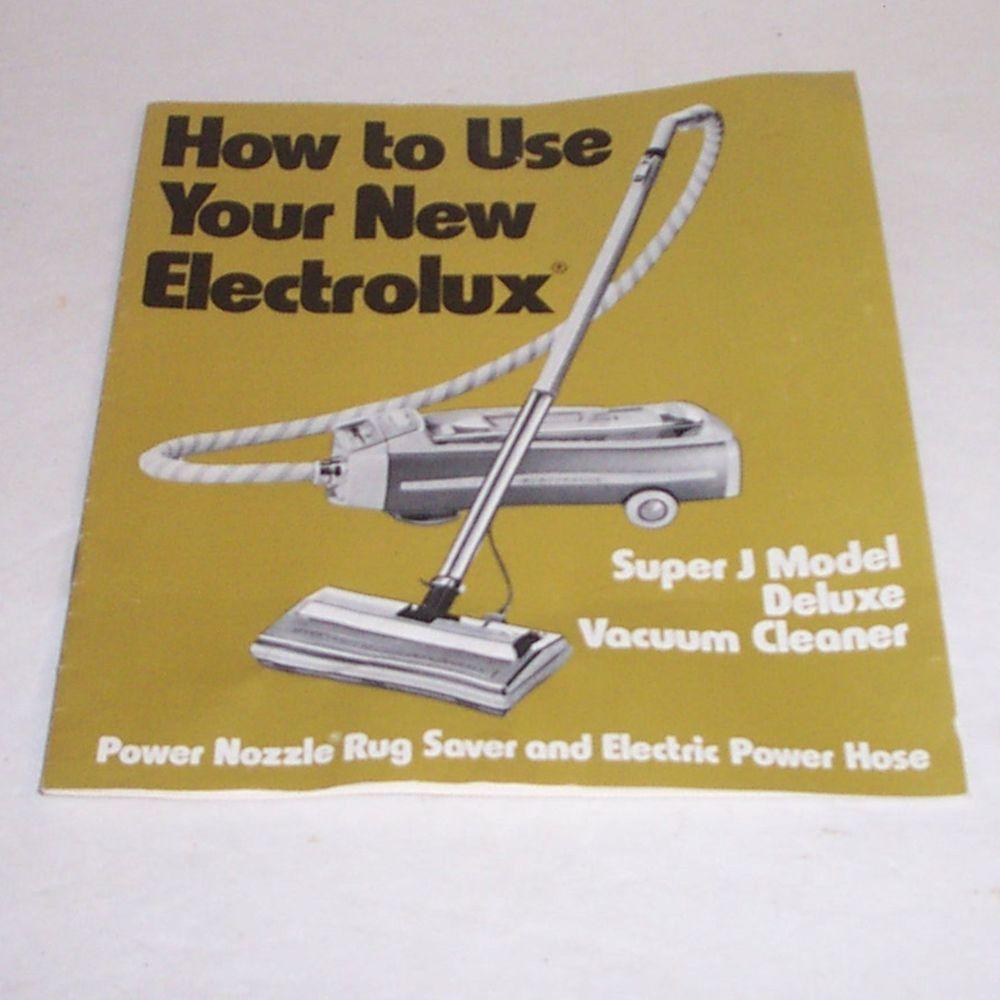 electrolux canister vacuum cleaner owners manual super j model rh pinterest com Electrolux Carpet Shampoo Electrolux Shampooer Manual