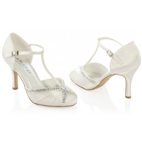 tiffany by westerleigh ivory or white vintage t bar wedding or occassion shoes
