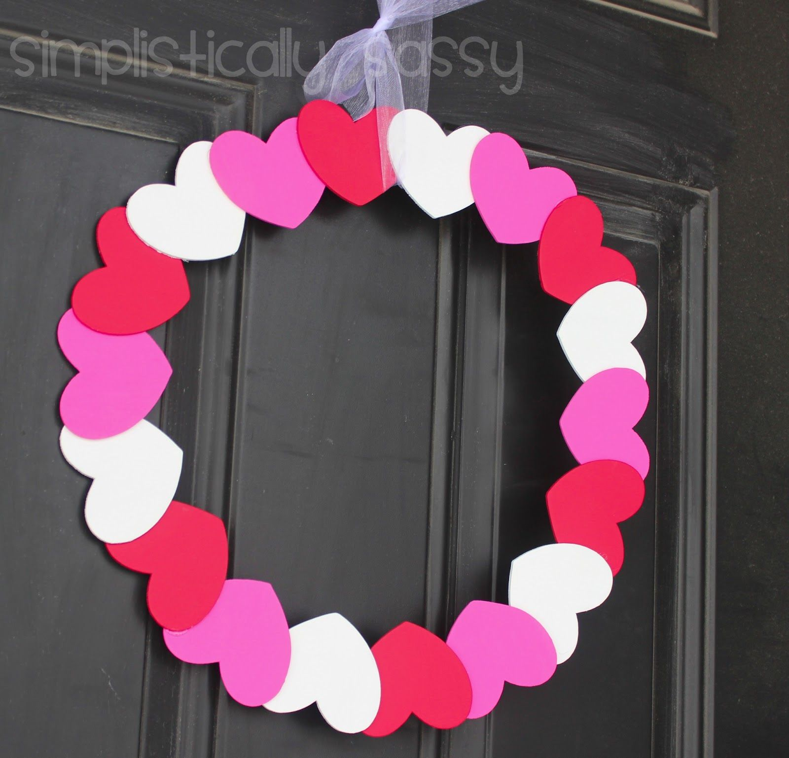valentine wreath design inspiration ideas with colorful paper wreath love shape style and beautiful white soft - Valentine Decorations To Make