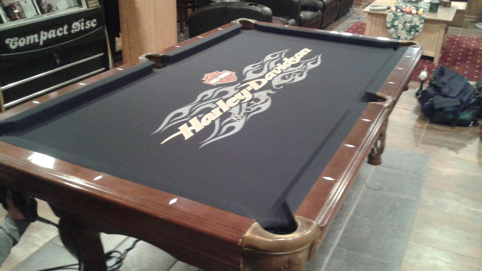 Harley Davidson Logo Recloth Pool Tables Billiard Rooms Game - Best place to sell pool table