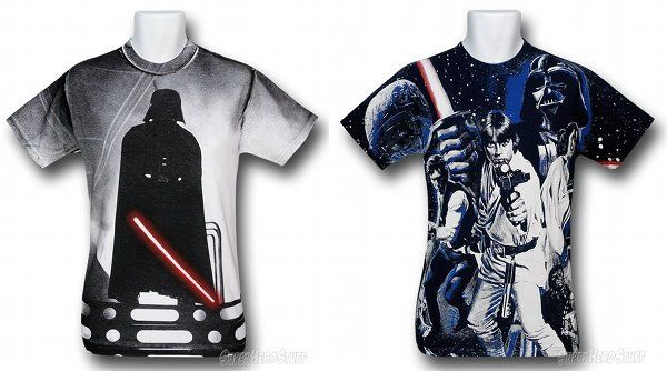Star Wars Glow-In-The Dark Shirts With All-Over Designs