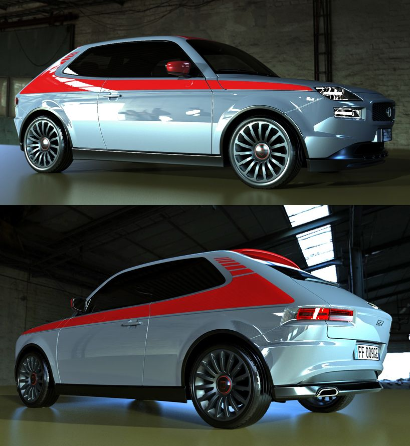 A Tribute To Pio Manzu Fiat 127 Concept By David Obendorfer