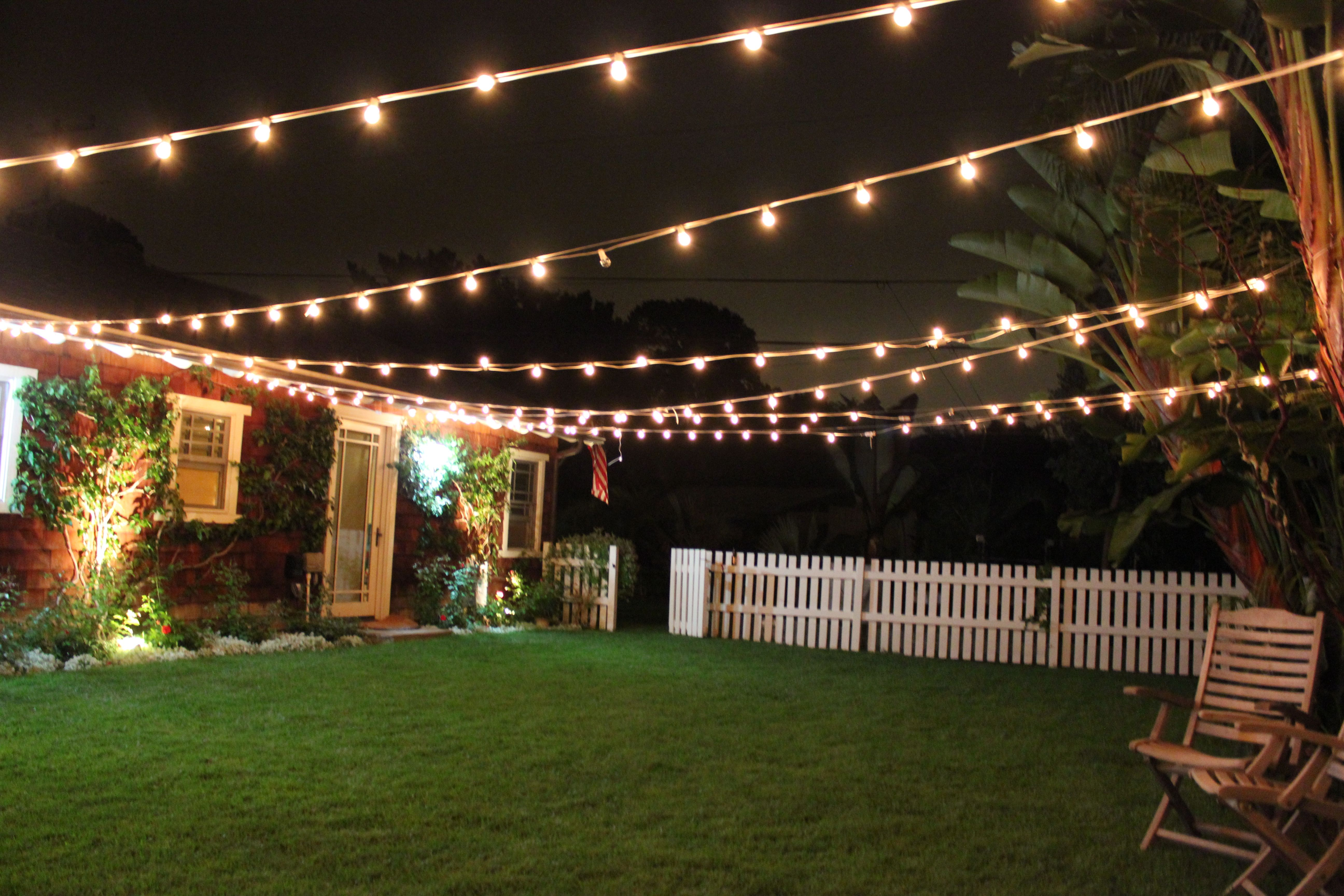 Patio Cafe style lighting adds so much beauty and charm to