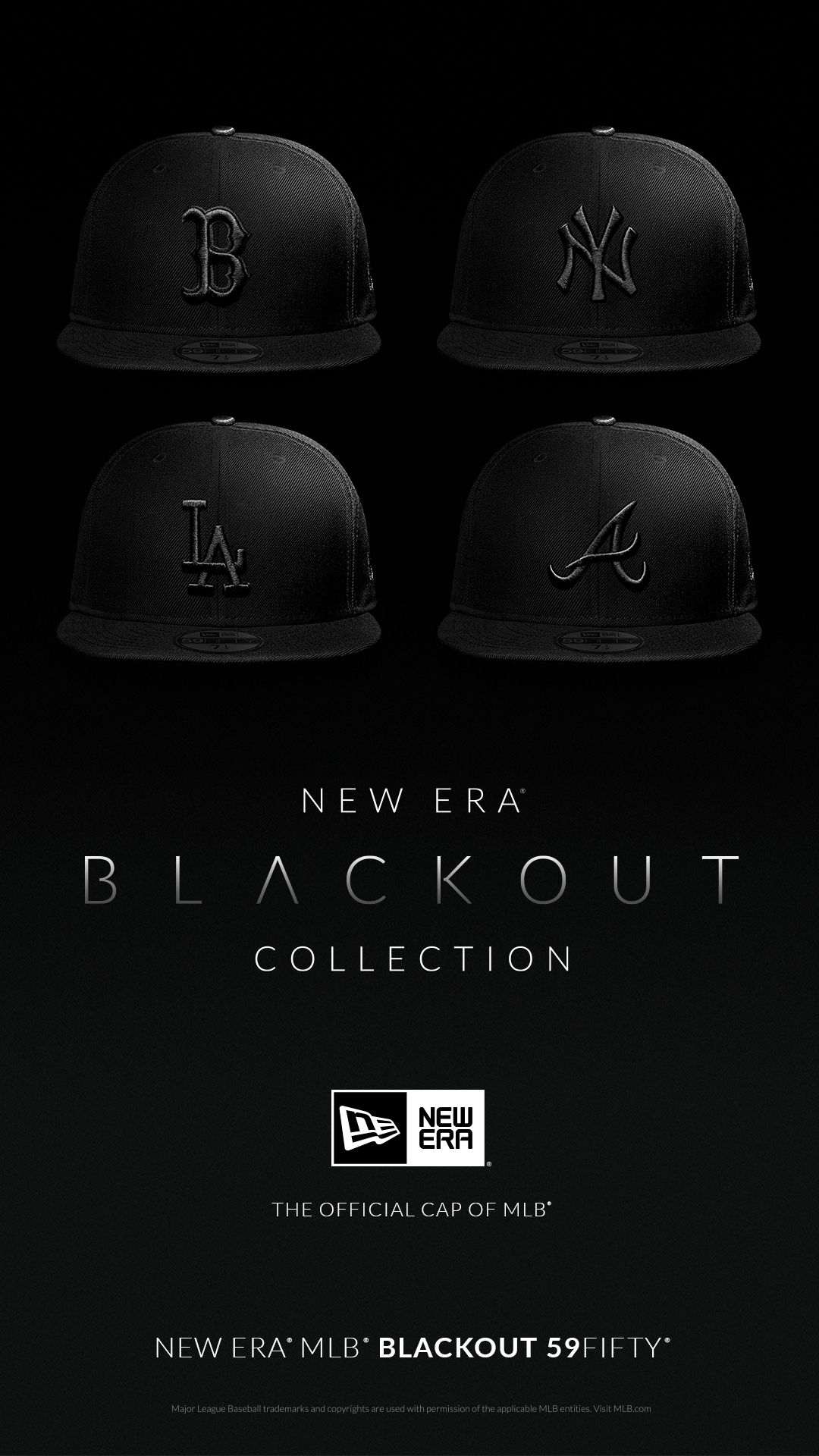 separation shoes 9e4de 3cfeb Baseball Hat · BLACKOUT IS HERE. Check out this Lids Exclusive collection  where everything is blacked out for