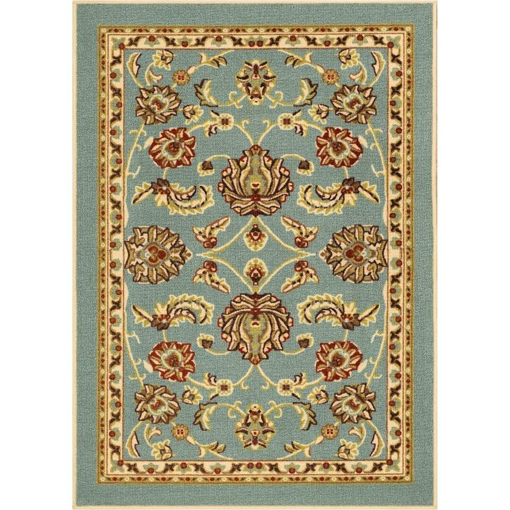 Well Woven Kings Court Tabriz Brown 3 Ft X 12 Ft Traditional Runner Rug 6633 2l Blue Area Rugs Area Rugs Rugs