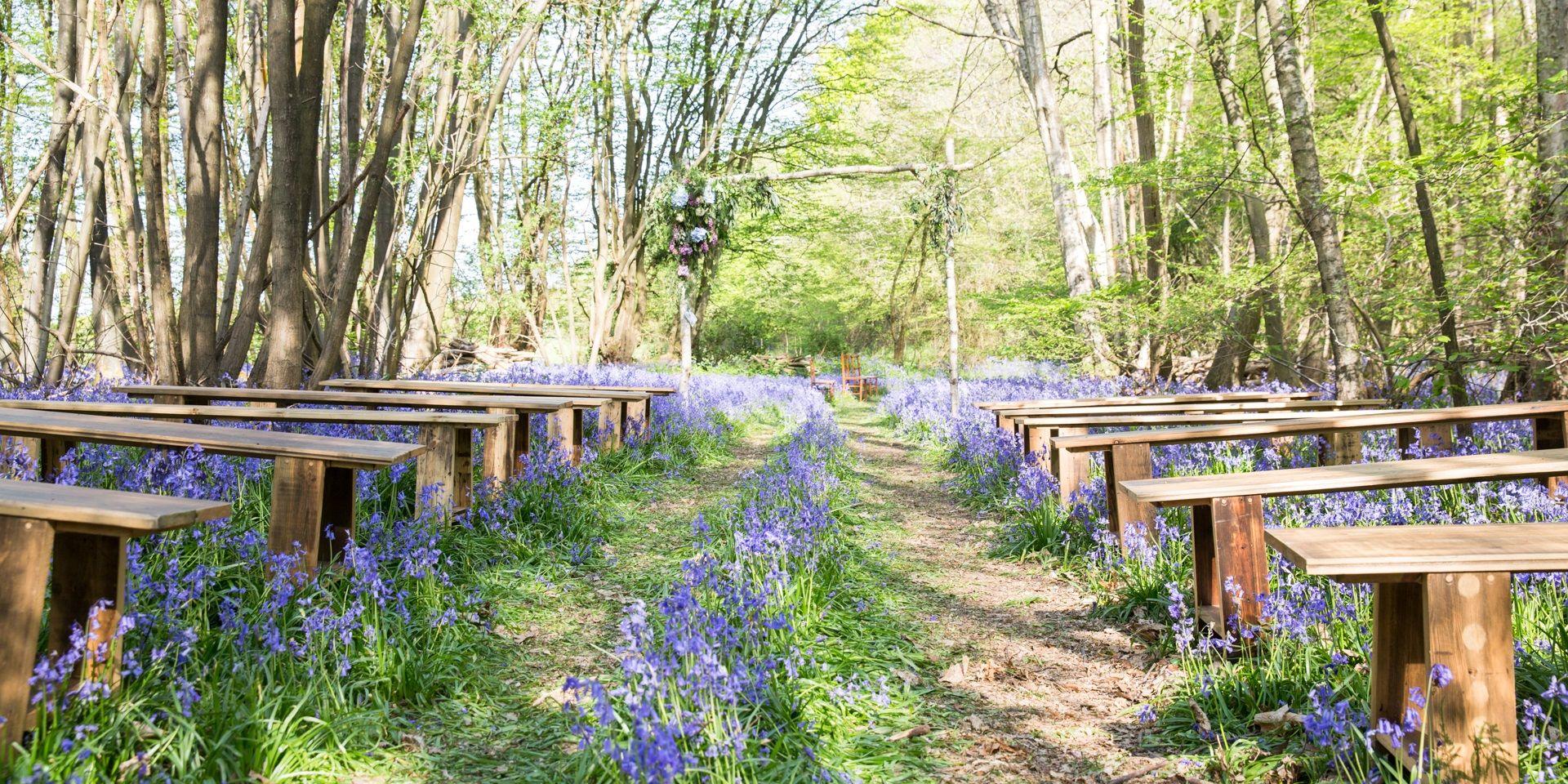 woodland blessing, outdoor wedding, kent wedding venue