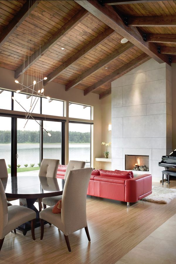 Light and airy contemporary lake house in