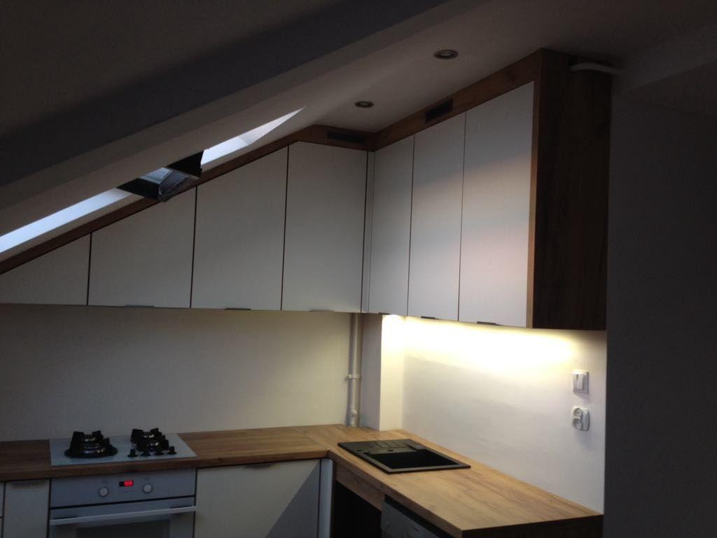 Kuchnia Na Poddaszu Pod Skosem Home Home Decor Decor