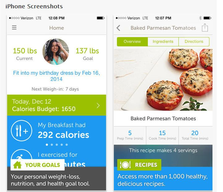 Calorie Counter, Dining Out, Food, and Exercise Tracker By