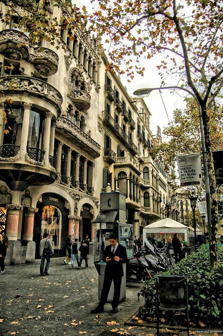 Paseo De Gracia Street Barcelona Spain Photo By Xaron White Barcelona Travel Cool Places To Visit Barcelona Spain