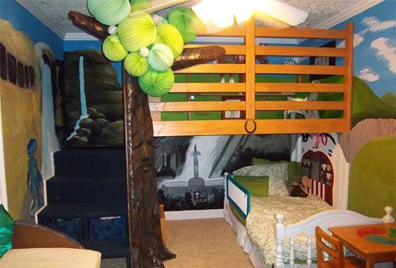 this legend of zelda themed bedroom is the coolest bedroom kids rh pinterest com
