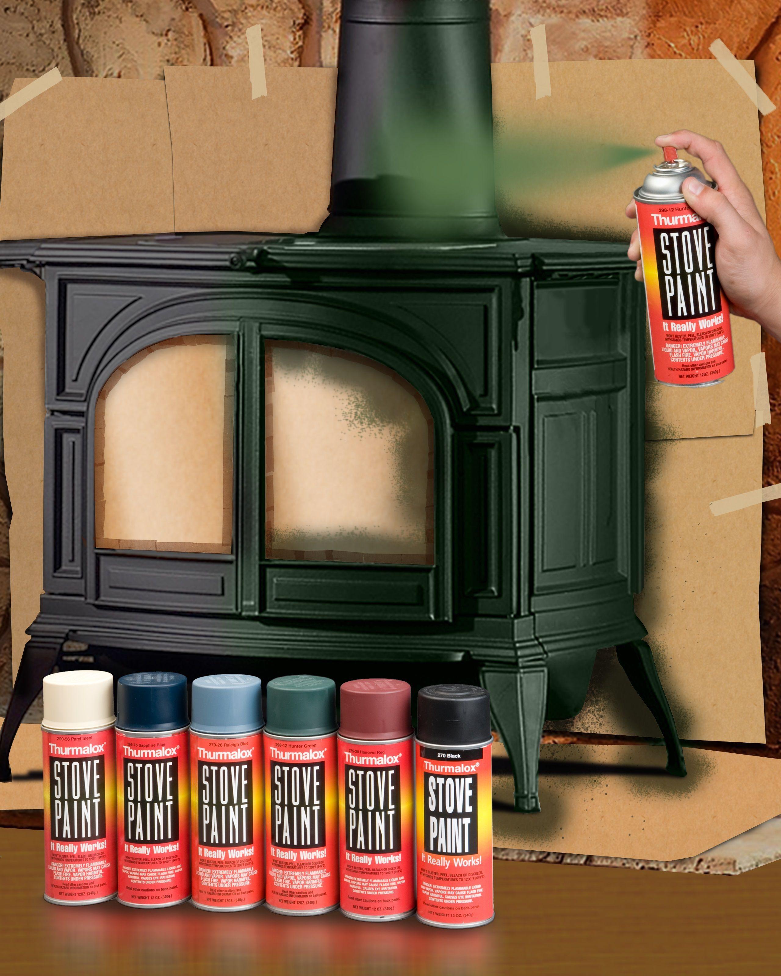High Heat Paint For Wood And Coal Burning Stoves Wood