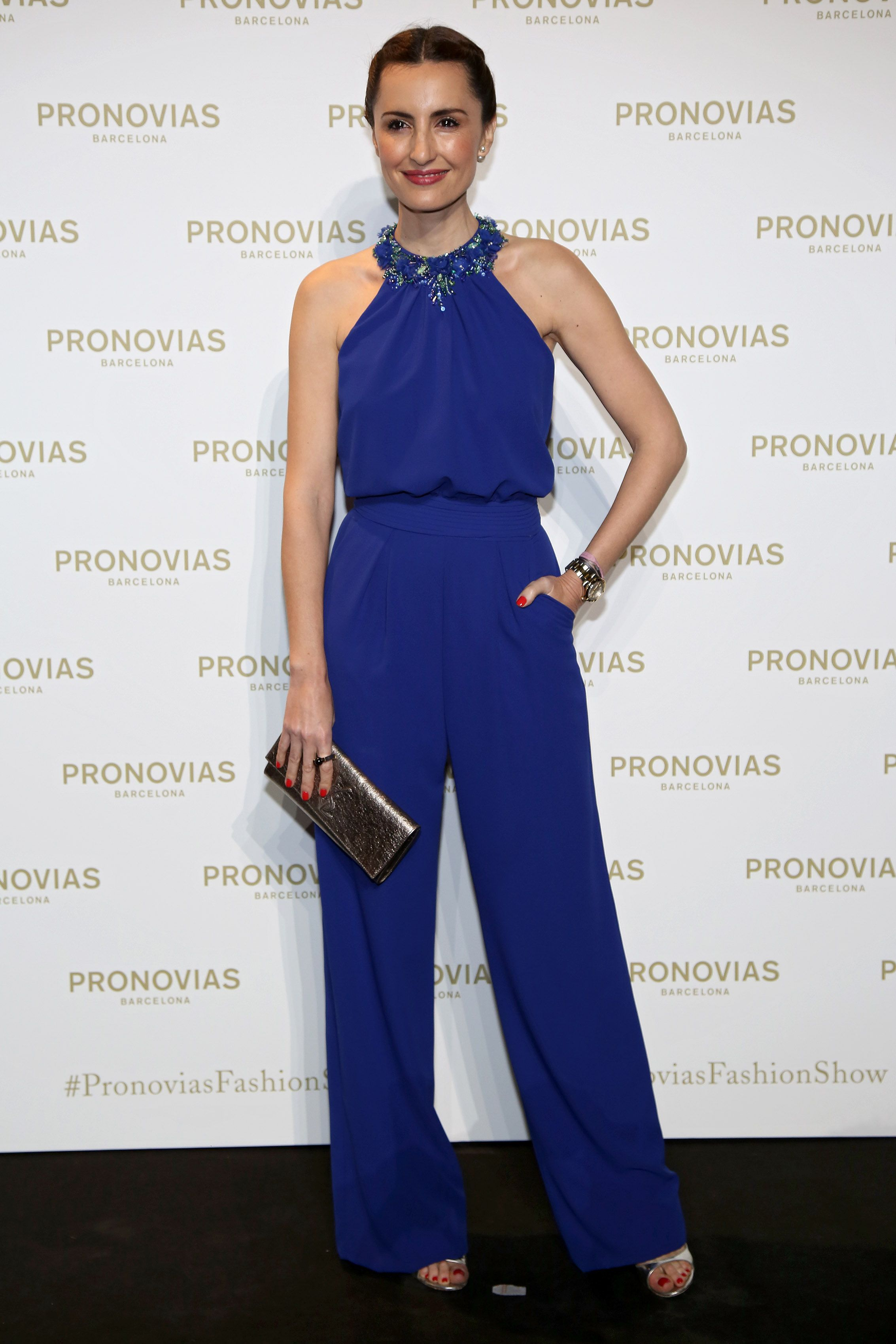 Socialite Monica Tomás in a jumpsuit from Pronovias Cocktail 2017 ...