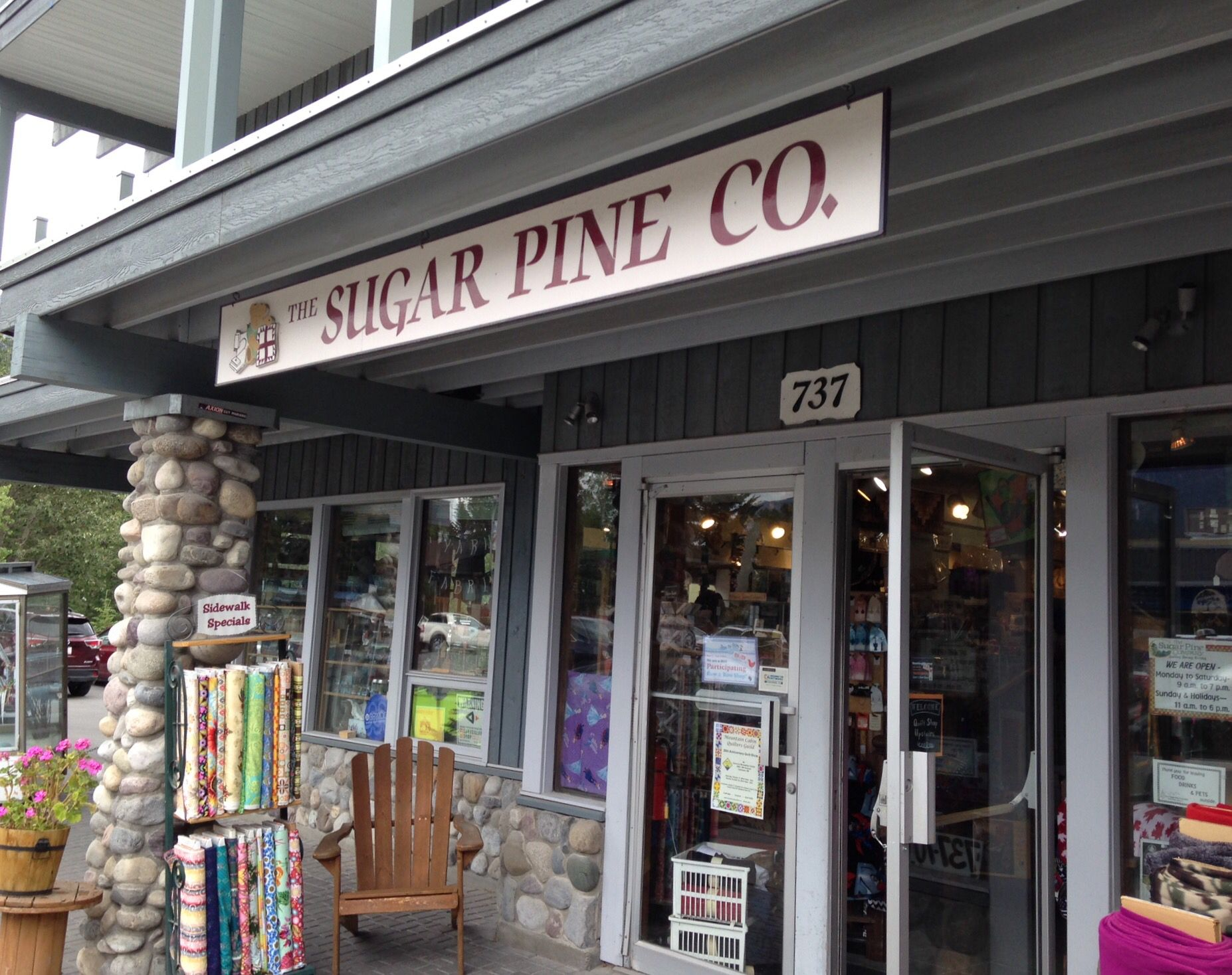 The Sugar Pine Company, Canmore, Alberta, Canada. Row by Row stop ... : sugar pine quilt shop - Adamdwight.com