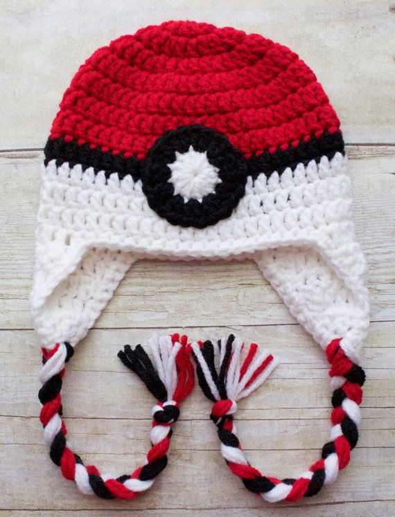 Crochet Pokeball Hat / Crochet Hat / Pokemon by KKCrochetDesigns ...