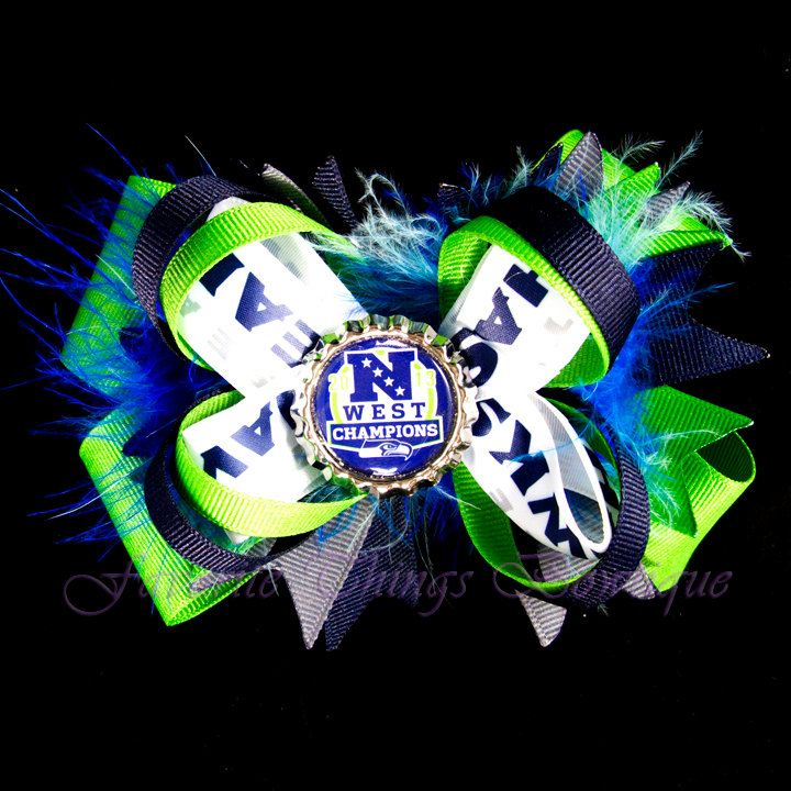 Seattle Seahawks Super Bowl XLVII Champions by FavoriteThingsBows, $9.99