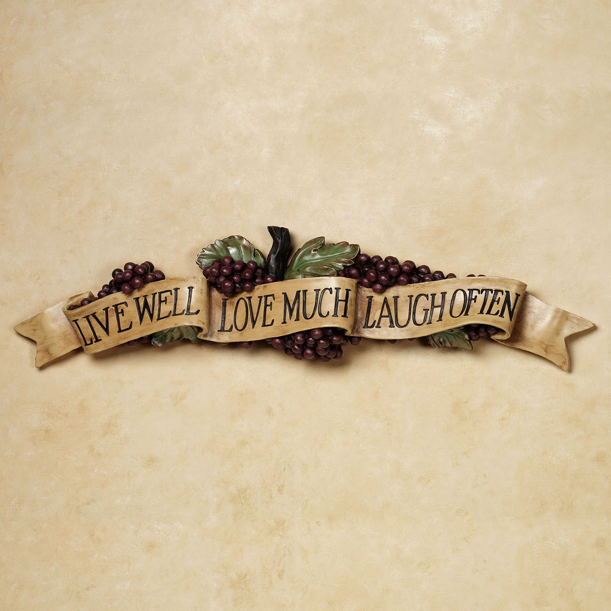 Live Love Laugh Grapes Wall Accent | Wine, Kitchens and Kitchen decor