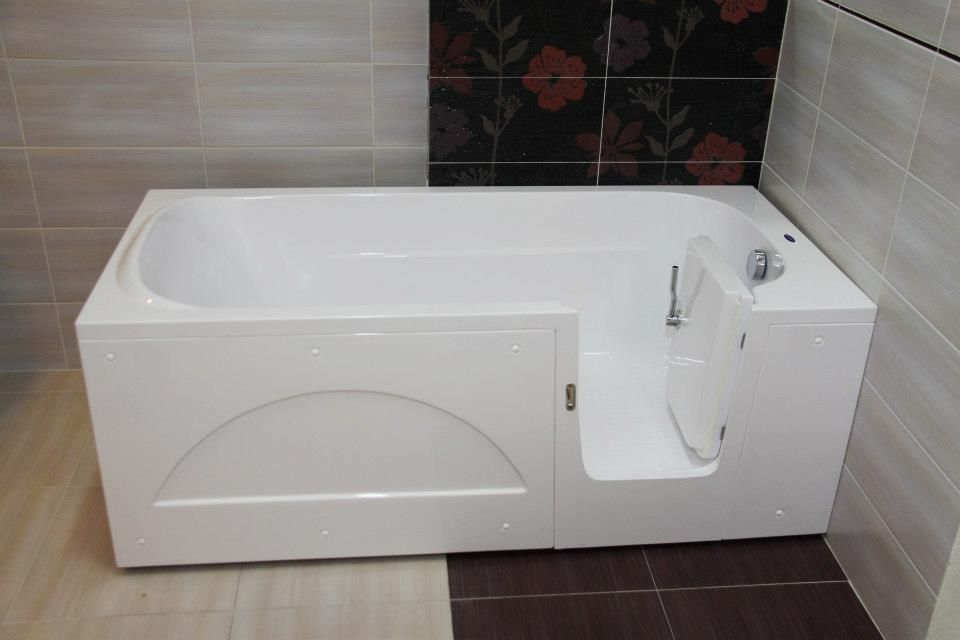 Get an disability bathroom, walk-in shower area in your bathroom in