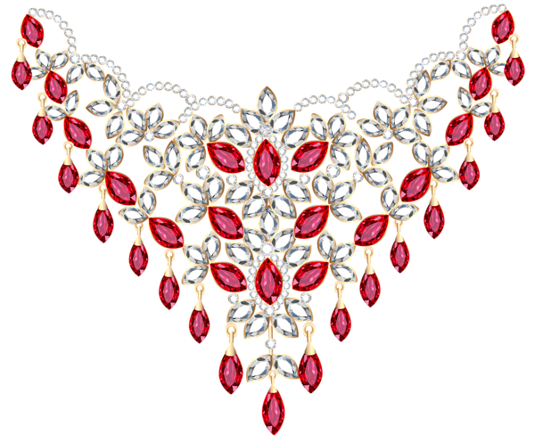 Transparent Diamond And Ruby Necklace Png Clipart Body Jewelry Earrings Pink Gemstones Gold Costume Jewelry Necklace