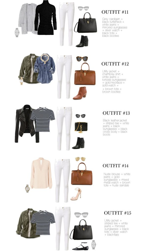 8cb3524b07 Chic Street Style 15 Ways to Wear White Jeans After Labor Day part 2   falloutfit  falltime  howtowear